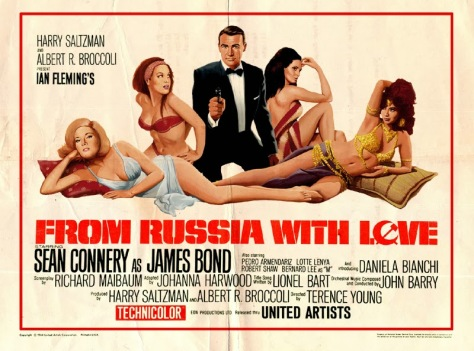 Image result for from russia with love poster