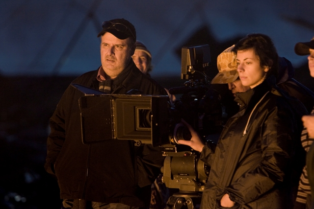 Director ALEX PROYAS on the set of KNOWING, a Summit Entertainment release.