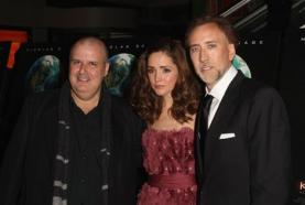 Director Alex Proyas, actress Rose Byrne and actor Nicolas Cage attend the premiere of Knowing in New York.