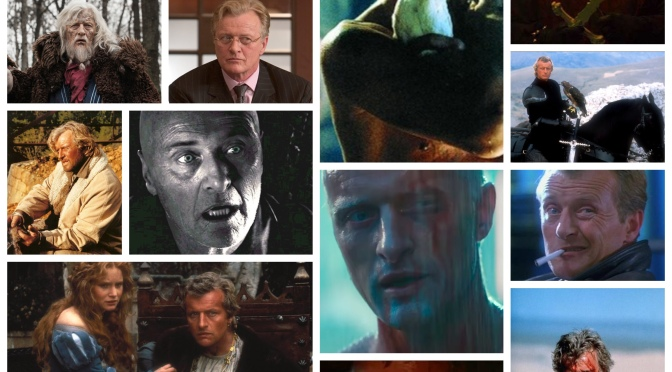 """All those moments will be lost in time, like tears in rain.."". Saying goodbye to Rutger Hauer"