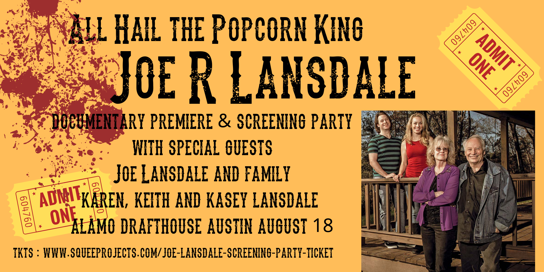 0de4dec8ad17ba970c8cd52d795d5930-premiere-screening-party-of-all-hail-the-popcorn-king--joe-r-lansdale-documentary